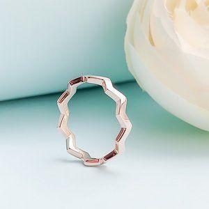 Polished Zigzag Ring